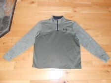 """UNDER ARMOUR GREEN LONG SLEEVE 1/4 ZIP ACTIVEWEAR """"LOOSE FIT"""" TOP SIZE LARGE"""