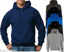 Mens Boys Plain Design Contrast Hoodies Sweatshirt Hooded Pullover Without Zip