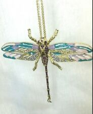 Betsey Johnson Large Dragonfly Bling Necklace Nwt Jewelry