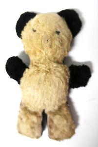 "Adorable Antique Brown & Black 8.5"" x 6"" x 2"" Teddy Bear"