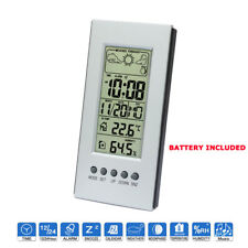 LCD Digital Weather Station Temperature Humidity Forecast Time Date Clock Alarm