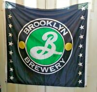 BROOKLYN BREWERY ADVERTISING FLAG BANNER BAR MAN CAVE DECOR