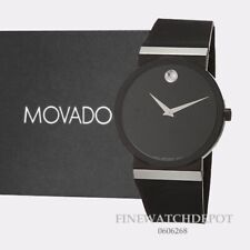 Authentic Movado Mens Synergy Black Dial Swiss Quartz Watch 0606268
