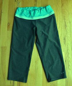 Women's CHAMPION Petite Leggings Crop Length (S/P) gray, teal, blue