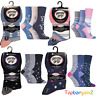 Gentle Grip Ladies Socks Non Binding Rich Cotton Soft Honeycomb Top Patterned