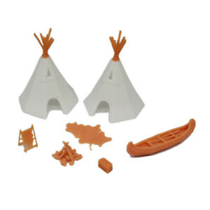 Outland Models Railroad Scenery Native American Indian Camp Set 1:64 S Scale