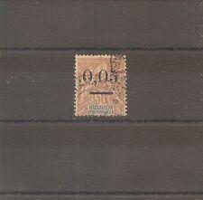 TIMBRE MADAGASCAR FRANKREICH KOLONIE 1902 N°52 OBLITERE USED TYPE 2