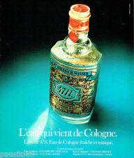 PUBLICITE ADVERTISING 036  1978  Eau de cologne 4711   parfums Tosca