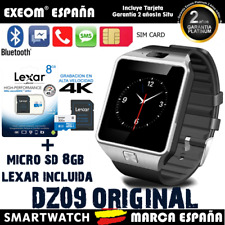 Reloj Inteligente SmartWatch Bluetooth para Android IOS + Micro SD 8GB Lexar C10
