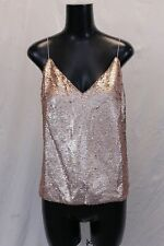 ASOS Womens Sleeveless Curve V-Neck Sequin Camisole Top ML3 Pink Size US:6 UK:10