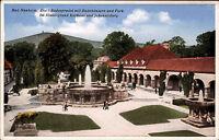 Bad Nauheim Color Postkarte ~1920 Badesprudel mit Badehäusern Lurpark Personen