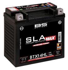 BATTERIA Potenziata BS SLA MAX GEL HARLEY DAVIDSON 883 XL XLH Sportster 12V 14Ah