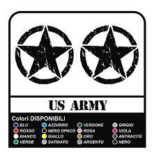KIT 3 ADESIVI STELLA ARMY COFANO PORTIERE JEEP RENEGADE OFFROAD+SCRITTA US ARMY