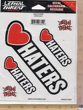 Love Haters Heart Window Decal Sticker for Car/Truck/Motorcycle/Laptop 6814
