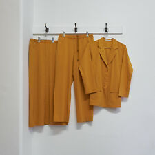 ISSEY MIYAKE orange three piece blazer trouser skirt suit M S
