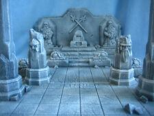 2 Ruined Dwarf Columns Unpainted Ceramic Thomarillion Terrain Dwarven Forge