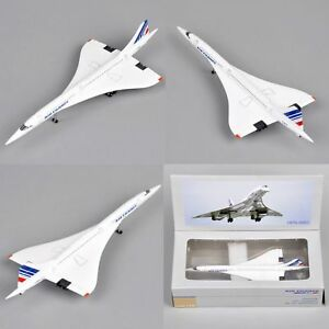 Concorde Plane Model 1:400 Scale Diecast Air France 1976-2003 Vehicles Toys