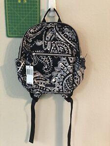 Vera Bradley Women's Iconic Small Backpack Deep Night Paisley NWT