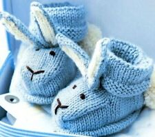 Baby Knitting Pattern Bunny Bootees 3-6 DK cheapest on ebay