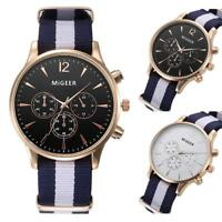 Migeer Classic Military Aviation 40mm Quartz Alloy Watch Webbing Canvas Strap