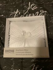 Celebrate It Wedding Ring Bearer Pillow Cushion White with Net New!