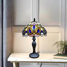 """Antiguo Estilo Tiffany Artesanal Mesa/Escritorio/Mesita de noche 10"""" Lámpara de Mesa Enchufe de Reino Unido"""