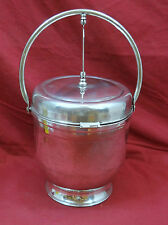 English Silver Mfg. Co. Double Hinged Lid Ice Bucket
