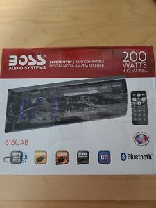 BOSS Audio 616UAB Bluetooth Car Mp3 Player Am/FM 200 Watts 4 Channel Remote Car
