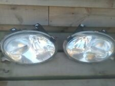 MGF HEADLAMP / HEADLIGHT SET ( PAIR ). GOOD CLEAR Lenses easy mot pass