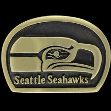 Seattle Seahawks Football Fan Gift Haida PNW Totem Brass 70 Vintage Belt Buckle