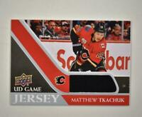 2020-21 UD Series 1 Game Jersey Relic #GJ-MT Matthew Tkachuk  - Calgary Flames