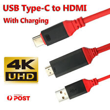 USB C Type-C to HDMI HDTV TV AV Adapter Cable 4K For Samsung Galaxy S9 Plus Cord