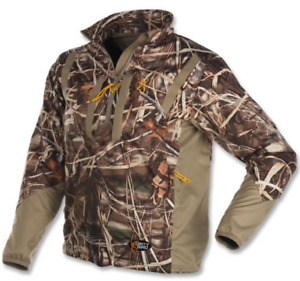 Browning Wicked Wing Soft Shell Pullover 3XL Duck Hunting Jacket - Max-5 Camo