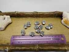 Lot of 12 - 15mm Double Side Skull Beads With Vertical Hole Crafts Jewelry NOS