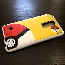 For LG G Stylo 2 / Stylo 2 Plus - HARD HYBRID CASE COVER YELLOW POKEMON POKEBALL