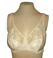 Bra Vintage Special Request Glamorise Underwire Unlined Lace beige 1537 32D