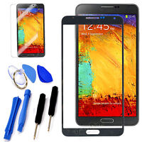 Black Replacement Front Lens Screen Glass For Samsung Galaxy Note 3 SM-N900