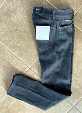 Hugo Boss Black Maine Jeans 34 32 Regular Fit Dark Blue Candiani Denim NWT $178