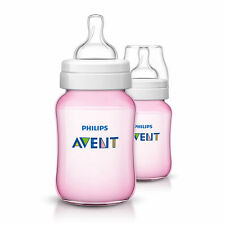 Philips Avent Classic Pink Baby Infant 2 Feeding Bottle 260ml - SCF56427