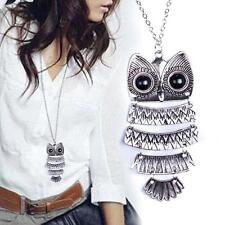 1x Fashion Women Vintage Style Bronze Owl Long Chain Jewelry Necklace Pendant TE