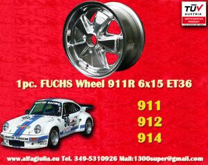 1 Cerchio Porsche Deep Six Fuchs 6x15 Polished Wheel Felge poliert Wheel TÜV