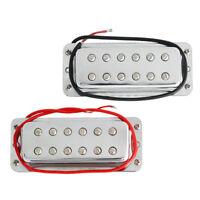 Mini Humbucker Pickup Double Coil Pickups Bridge Neck Set for Electric Guitar