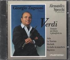 """GIORGIO ZAGNONI ALESSANDRO SPECCHI - RARO CD FUORI CATALOGO """" VERDI """""""