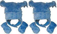 ARIZONA Baby 6-12 Month Winter Snow Jester Warm Hat Mittens set Blue NWT
