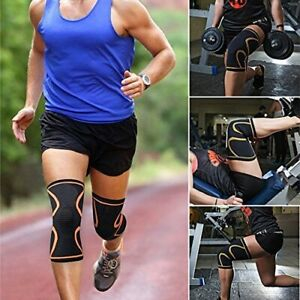 1 Copper Knee Support Compression Sleeve Brace Patella Arthritis Pain Relief Gym