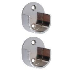 2pcs Recess Wall Bracket Curtain Pole Bracket Window Treatment Hardware 25mm