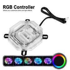 RBW LED CPU Water Cooling Heatsink Block Waterblock Liquid Cooler + Controller