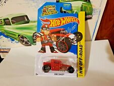 HOT WHEELS    BONE SHAKER  RED  AUTOGRAPHED CARD  LARRY WOOD