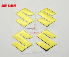 Gold Fuel Tank Fairing/Fender Emblem Decal Badge Sticker For Suzuki GSXR 4pcs