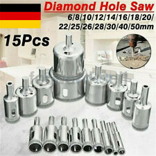 15 x Diamantbohrer Hohlbohrer Lochsäge Bohrkrone Glasbohrer Fliesenbohrer 6-50mm